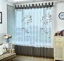 KELE Pastoralen Stil Stickerei Floral Fenster