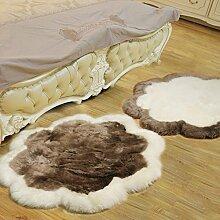 KELE Pflaume decke wohnzimmer sofa schlafzimmer front bett eingang halle teppiche kaufen ein senden-weiß+hellbraun diameter120cm(47inch)