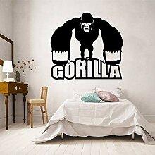 keletop Gorilla AFFE Wandaufkleber Moderne