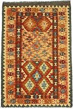 Kelim Afghan Teppich Orientalischer Teppich 147x97 cm Handgewebt Klassisch