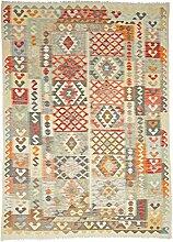 Kelim Afghan Teppich Orientteppich 246x178 cm