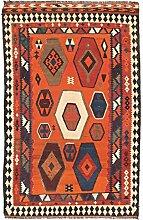 Kelim Fars Teppich Orientalischer Teppich 230x144 cm Handgewebt Klassisch