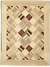 Kelim Mosaik Teppich Orientalischer Teppich 244x184 cm Handgewebt Klassisch