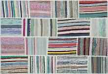 Kelim Patchwork Teppich, 1960er