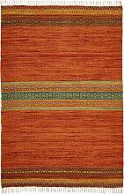 Kelim Teppich Goa, orange (50/100 cm)