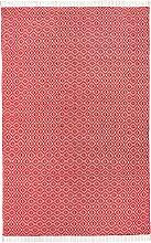 Kelim-Teppich mit Fransen, rot (70/140 cm)