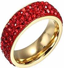 Keliour Haustürkranz Damen Eternity Ring aus
