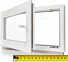 Kellerfenster 2fach Verglasung BxH 65x55cm / 650x550mm DIN L - Zwischenmaß - Kunststoff Fenster Pilzkopfverr. WINKHAUS Isolierglas