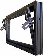 Kellerfenster braun 100 x 60 cm Einfachglas