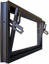 Kellerfenster braun 80 x 50 cm Einfachglas