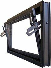 Kellerfenster braun 90 x 60 cm Einfachglas