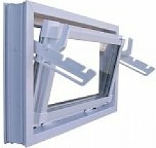 Kellerfenster Einfachverglasung 100 x 40 weiss
