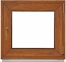 Kellerfenster Fenster Kunststoff 2 fach Verglasung 90x65 cm&900x650 mm DIN rechts - Dreh Kipp Golden Oak