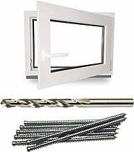 Kellerfenster - Kunststoff - Fenster - weiß