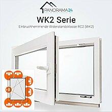 DIN links 60mm Profil Fenster wei/ß 3-fach-Verglasung LAGERWARE BxH: 90x60 cm Panorama24 Kellerfenster Kunststoff