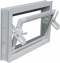 Kellerfenster weiss 80 x 50 cm Einfachglas