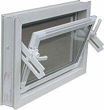 Kellerfenster weiß 90 x 60 cm Isoglas 2.0 incl. 4 Fensterbauschrauben