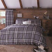 Kelso Catherine Lansfield vollständige Doppelbett, Baumwolle, Kohle von Brennholz, die Franzosen