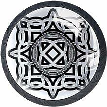 keltisch 4 Stück Schubladenknöpfe Kommode