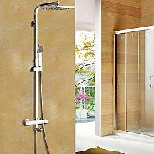 KEMAIDI Neu 8 Zoll Thermostat-Duschset Wasserhahn