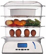 KeMar Kitchenware KFS-900 Dampfgarer, 6 Programme,