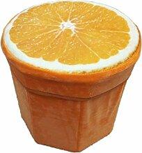 Kenmont 31 x 30 x 7 cm Groß Kreative Stump Aufbewahrungskiste Truhen Faltbarer Sitzhocker Belastbar bis 150 kg Fußbank Sitzbank Aufbewahrungsbox Aufbewahrungsbox Wäschekorb , Multi-Color (orange)