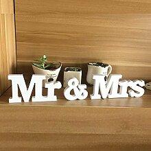 Kenmont Mr & Mrs Holzbuchstaben Wörter Hochzeit Dekoration / Geschenk Ceremonial Décor Hochzeitsdekoration Tischdeko Hochzeits Buchstaben Valentines (Mr & Mrs, Wood)