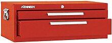 Kennedy Verarbeitung 5150b Schlosserhammer Schränkchen mit 2Schubladen Boden mit Reibung Folien, 66cm schwarz