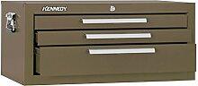 Kennedy Verarbeitung mc22b Schlosserhammer Schränkchen mit 2Schubladen Boden mit Reibung Folien, 53,3cm braun Falten, 2603B