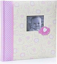 Kenro KB401PK Fotoalbum mit rosa Elefanten für