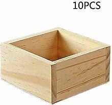 Kentop 10Stk Ordnungsbox Holzkiste