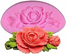 Kentop 3D Rosenform Silikon Form Kuchen Form