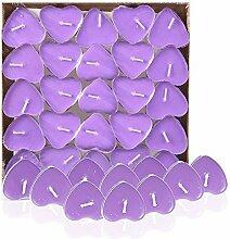 Kentop 50 Stück Geburtstagskerze Herzkerze für