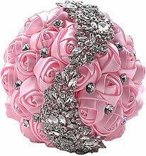 Kentop Brautstrauß Künstliche Satin Blumen