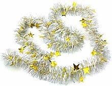 Kentop Weihnachtsgirlande Weihnachtsbaum Lametta