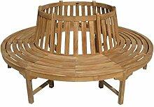 Kentucky Baumbank Ø 208 cm Gartenbank Holzbank aus Eukalyptus FSC 100%