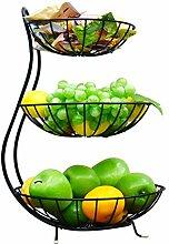 KEOA 3 Etagen Obst Etagere Obstkorb Metall,