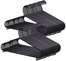 KEPLIN Hangers Kleiderbügel, Plastik, Schwarz, 50