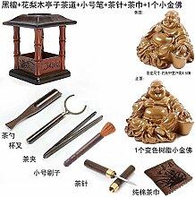 KEQB Palisander Teezeremonie Set aus Ebenholz