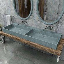 KERABAD Design Doppelwaschtisch Betonwaschbecken