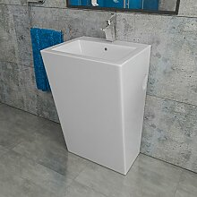 Kerabad Keramik Design Standwaschbecken Säulenwaschbecken Waschtischsäule Waschsäule Standsäule KBE3