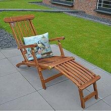 KERABAD Teak Deckchair Eco Gartenmöbel