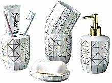 Keramik 5-teiliges Badezimmer- und