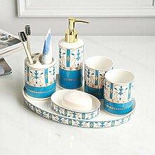 Keramik 6-teiliges Badezimmer- und