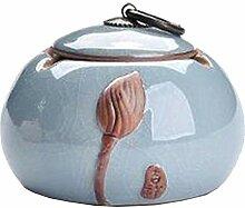 Keramik Aschenbecher Mit Deckel, Esche Inhaber