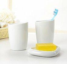 Keramik Bad waschen 3 Stück je Paar Badezimmer Set Schweiz Design, Weiß