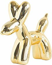 Keramik Ballon Hund Ornament Dekoration Tier