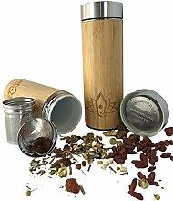 Keramik Bambus Kaffee Becher mit Deckel aus