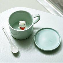 Keramik Becher - 3D Tier Morgen Becher Set