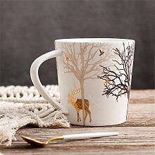 keramik - becher matt keramik - becher kaffee mit milch - cup,b